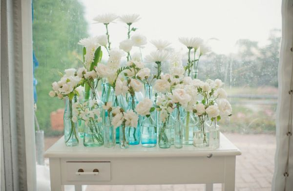 All ForEver After: #138 Centrepieces - Flowers in Vintage Bottles
