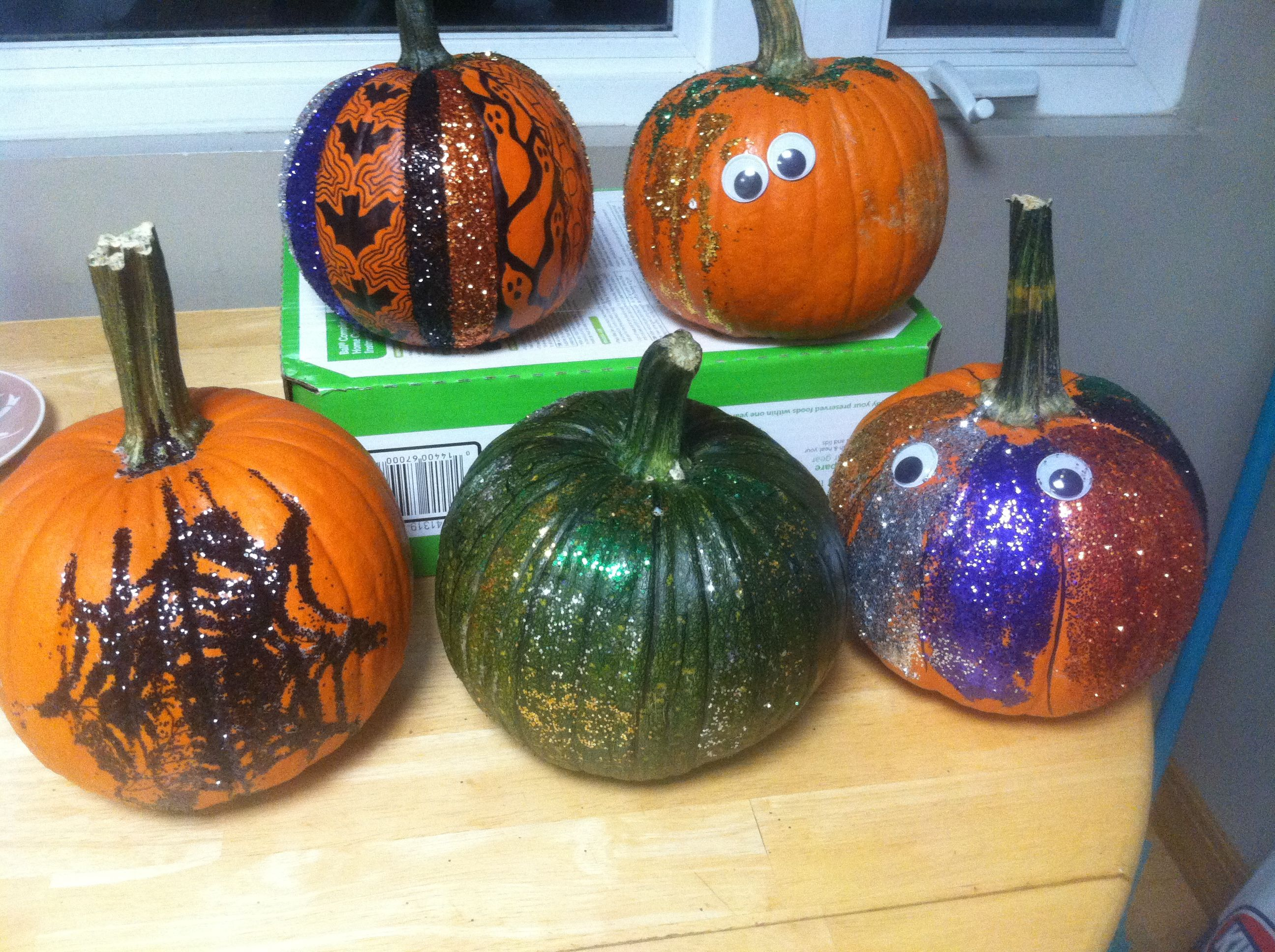 We love to glitter pumpkins!