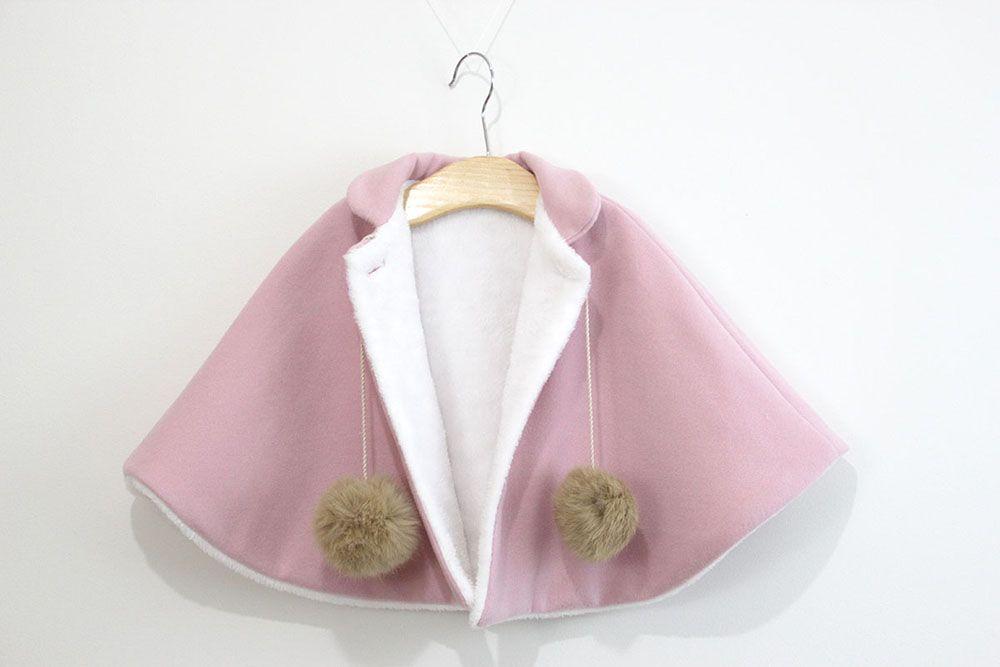 DIY Patrones gratis de abrigo tipo capa para niña | Valentina ...