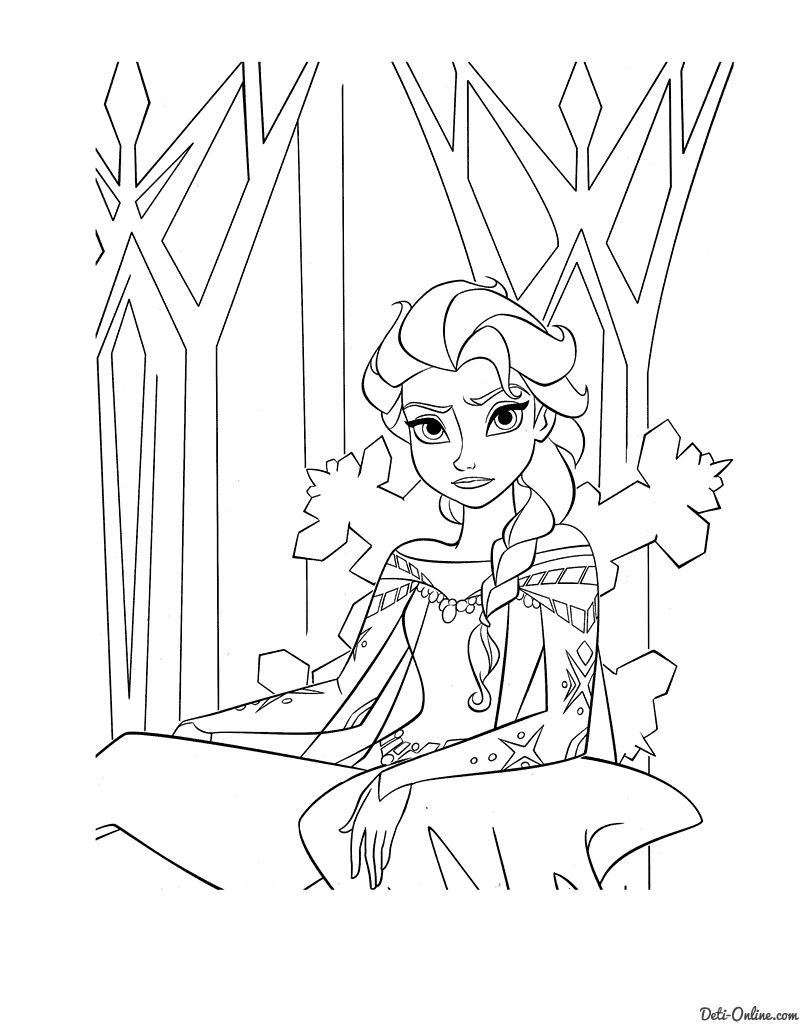 Coloring pages queen elsa - Explore Frozen Coloring Pages And More
