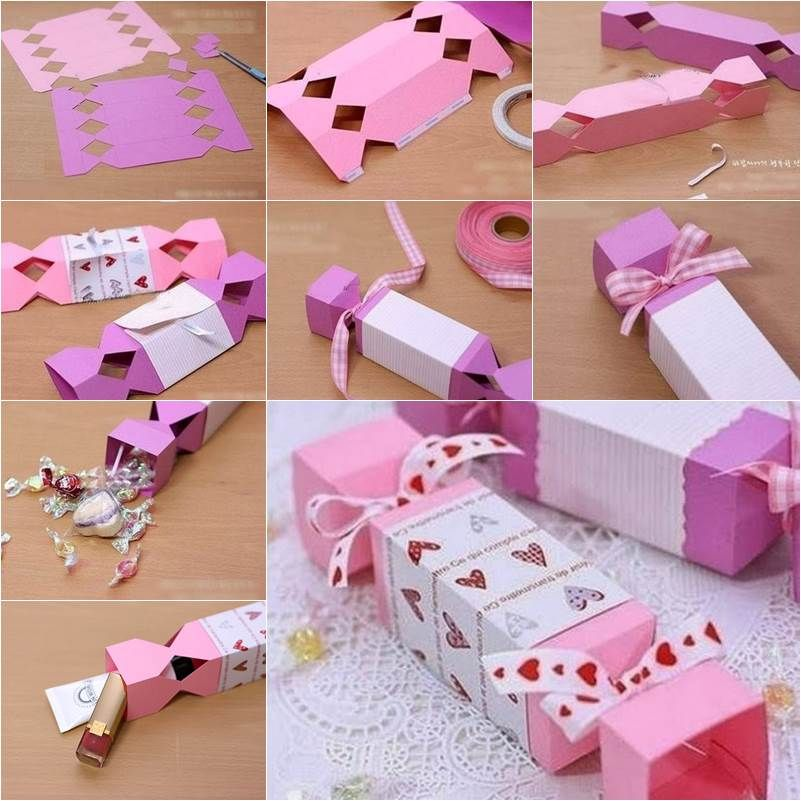 How to diy candy shaped gift box super easy shapes and box for Simple gifts to make