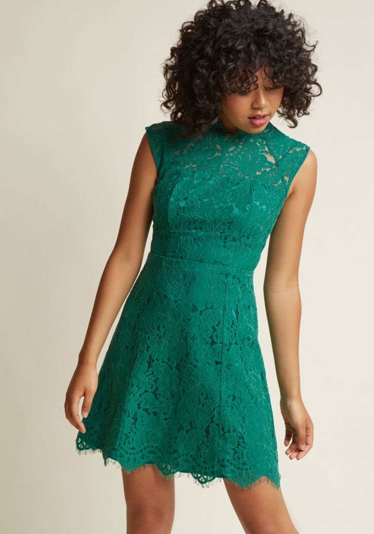 green lace wedding guest dress | My Wishlist | Pinterest | Lace ...