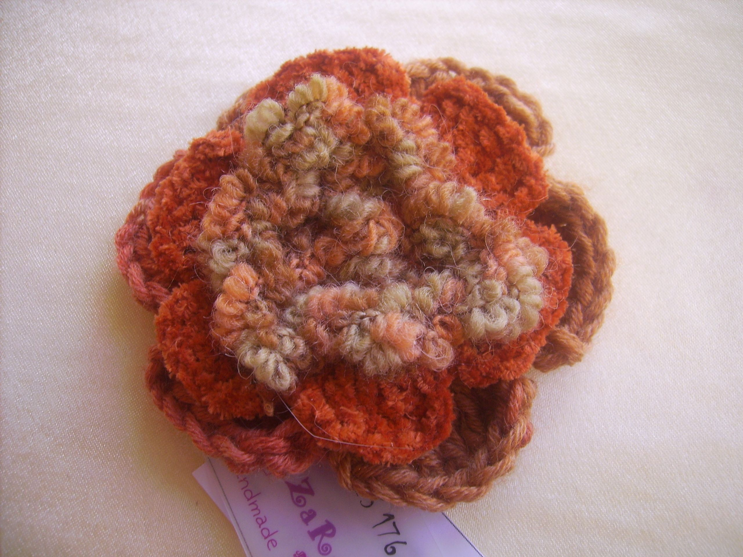 com crocheted crosetata brooch floare s facebook pin flower brosa