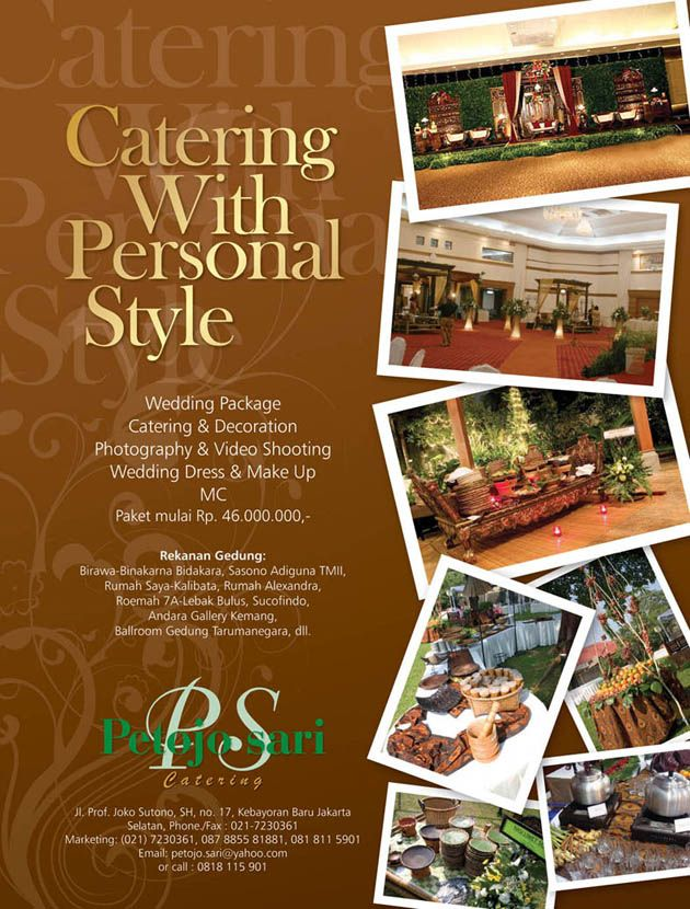 PRINT AD PETOJO SARI Catering Event planning checklist