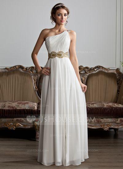 d8963d726b Alkalmi Ruhák · Aranyos Ruhák · Vestidos princesa/ Formato A Um ombro  Longos De chiffon Vestido de baile com… Esküvői