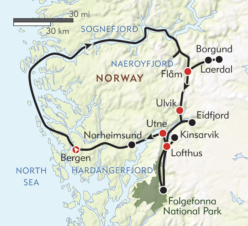 Hiking Norway S Fjord Country Route Map Norway Fjords