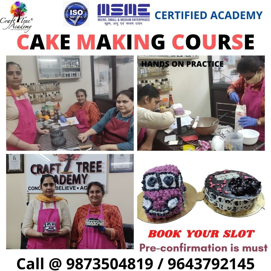 Learn how make cakes from Craft Tree Academy 😊 For bookings call us on ☎️ 9873504819 or 9643792145 Or visit 🌐 www.soapmakingclasses.in . . . #crafttreeacademy #cakemakingcourse #cakemaking #cakelover #cake #themecakes #cakelove #loveforcakes