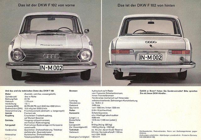 Dkw F 102 Audi Cars Car Advertising Audi