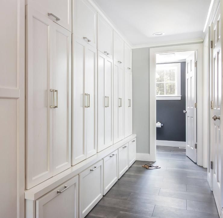 Best Galley Style Mudroom Featuring Floor To Ceiling Built In 400 x 300