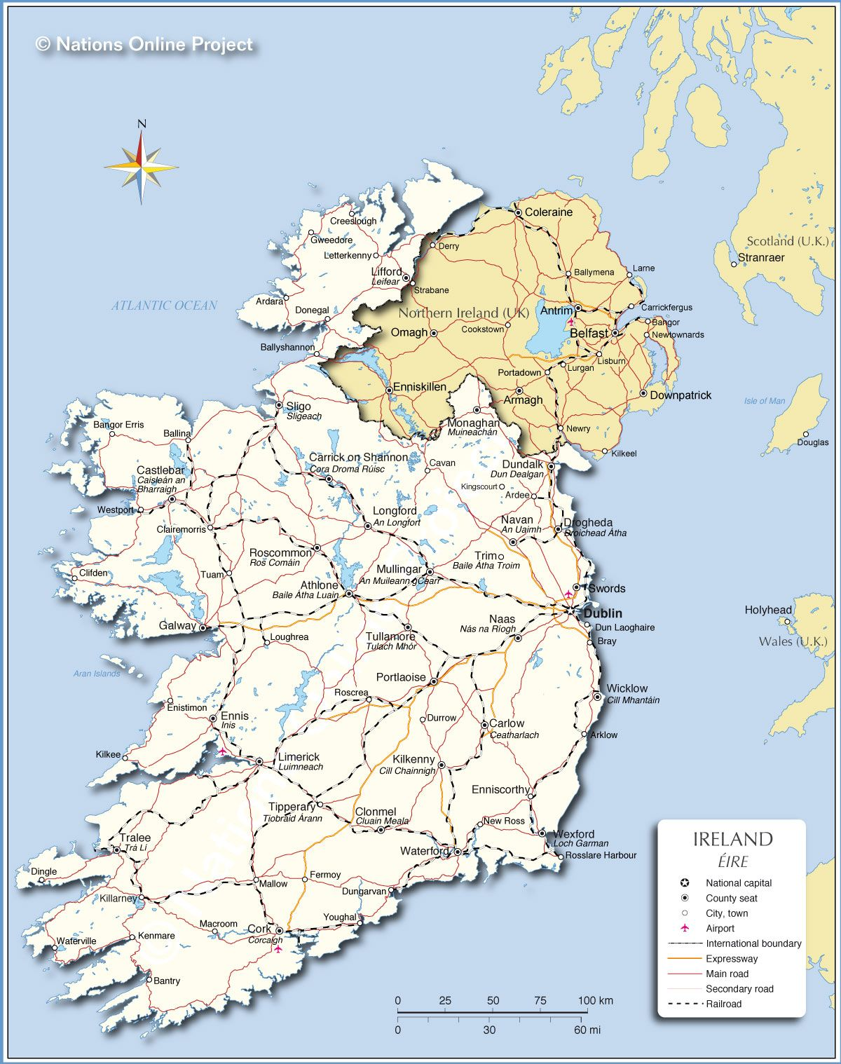 Map Of Northern Ireland And Ireland.Political Map Of Ireland Trips To Look Forward To Map Ireland