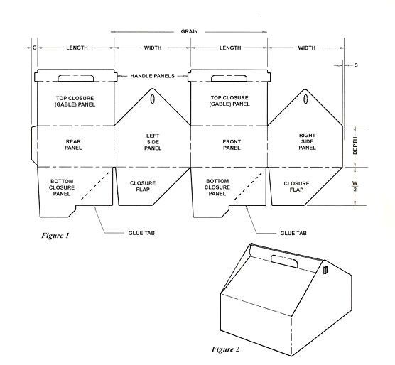 free gabled pastry box templates - Google Search Box for mini - gift box template free