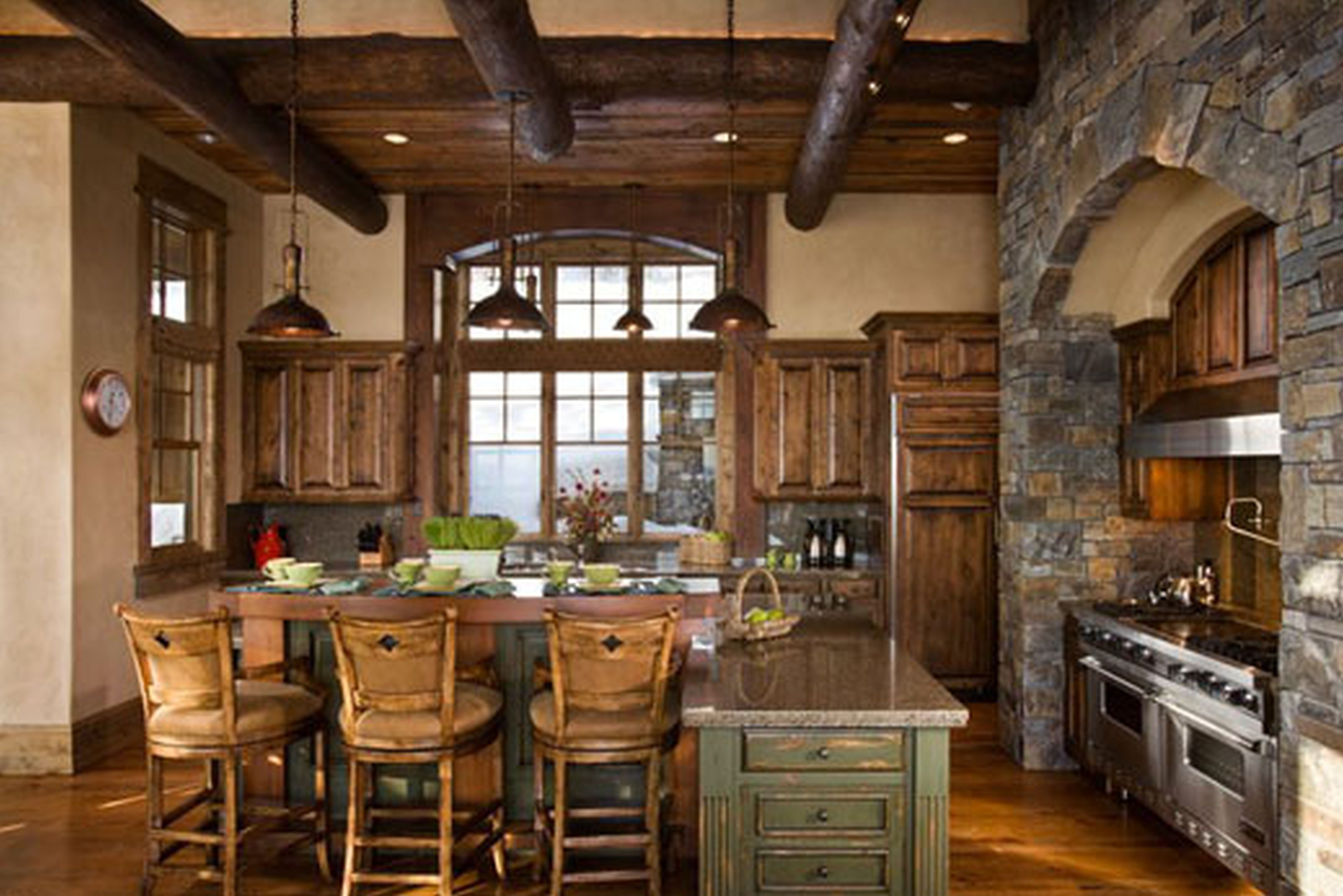Rustic western homes easy on the eye western home decor for Tuscan kitchen ideas on a budget
