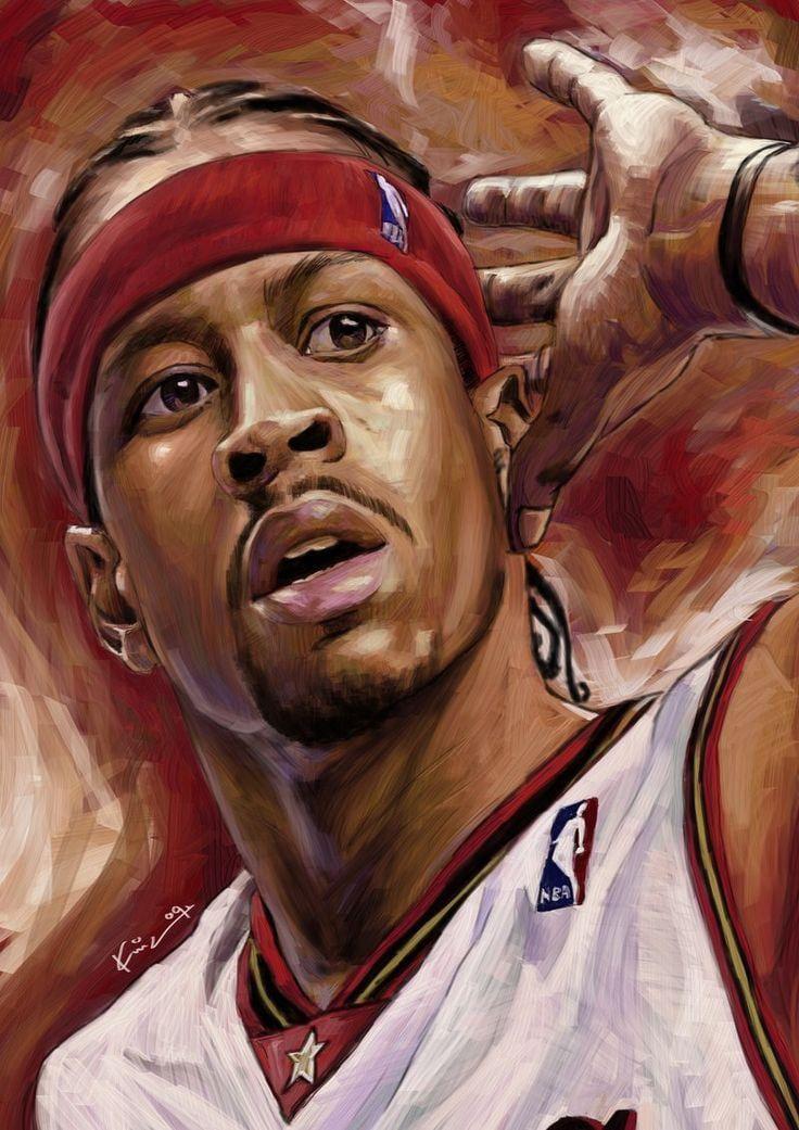 Allen Iverson Wallpaper Iphone Ma Am Basketball Art Nba Basketball Art Allen Iverson