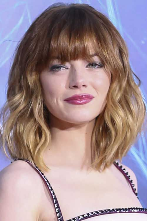 20 Short Wavy Hairstyles With Bangs Http Www Short Haircut Com 20 Short Wavy Hairsty Hairstyles With Bangs Medium Length Hair Styles Short Hair Styles 2014