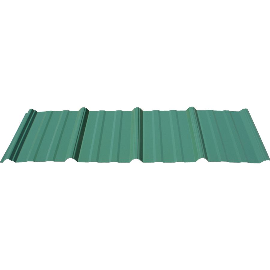 Union Corrugating 3 17 Ft X 12 Ft Ribbed Steel Roof Panel At Lowes Com Roof Panels Metal Roof Steel Roof Panels
