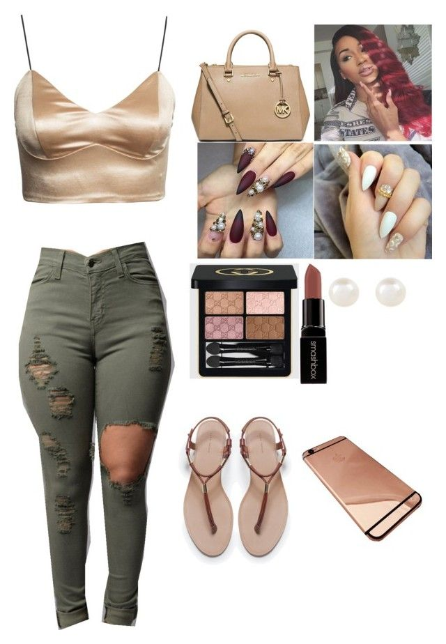 """Elegant "" by zoeyybabyxo on Polyvore featuring Zara, MICHAEL Michael Kors, Smashbox, Accessorize, Gucci, women's clothing, women, female, woman and misses"