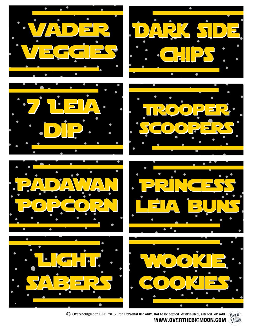 May the 4th Be with You - Star Wars Food Free Printables | Pinterest ...