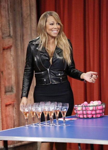 Mariah Carey: #champagne drinker (and champagne pong player) via Late Night with Jimmy Fallon and per rap-up.com