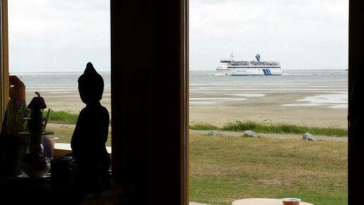 Heerlijk uitzicht vanuit strandpaviljoen De Walvis #Terschelling