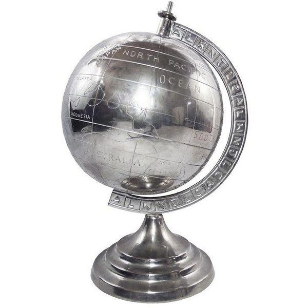 Decorative Metal World Globe ($95) ❤ Liked On Polyvore Featuring Home, Home  Decor
