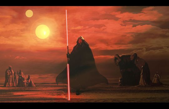 Darth Maul On Tatooine By Livioramondelli Star Wars Poster Star Wars Vii Star Wars Sith