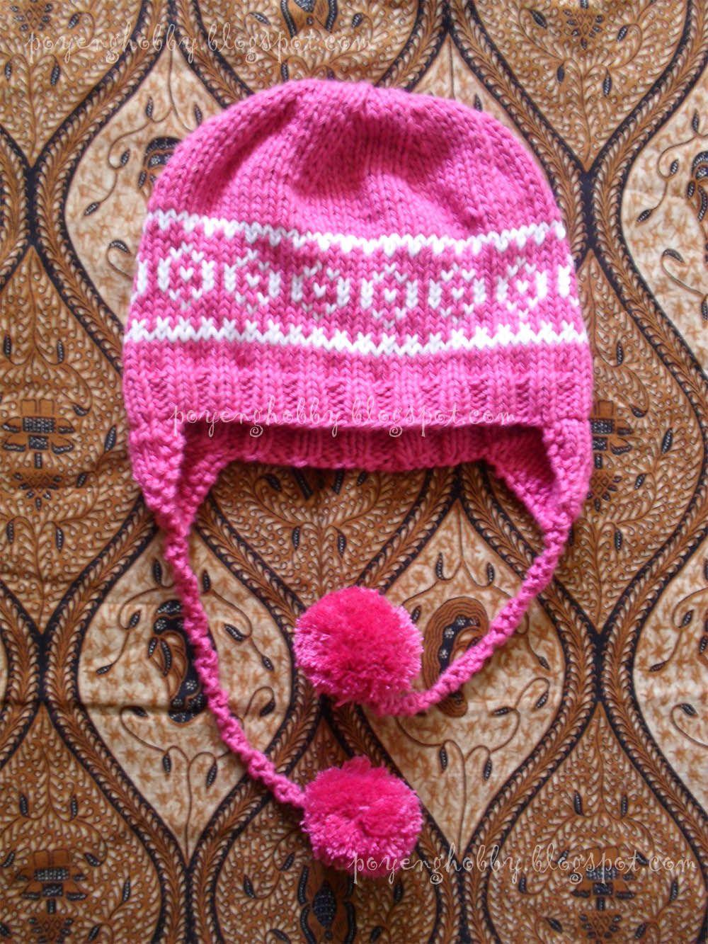 Ajeng Belajar Merajut: Rajut Free Knitting Pattern : Ear Flap Hat ...