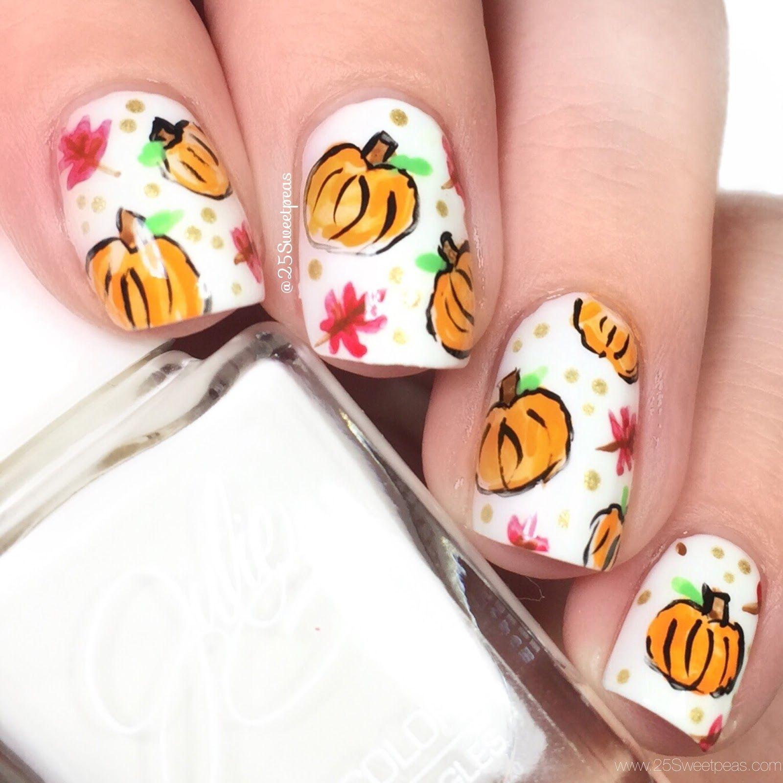Fall Decor | Pumpkin nail art, Leaves and Nail art galleries