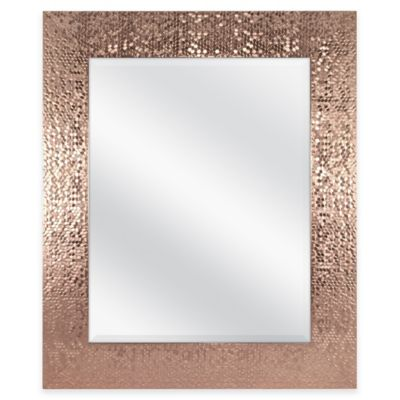 Door Solutions 36 Inch X 30 Inch Large Rectangular Sequin Mirror In Copper Mirror Design Wall Mirror Wall Frame Wall Decor