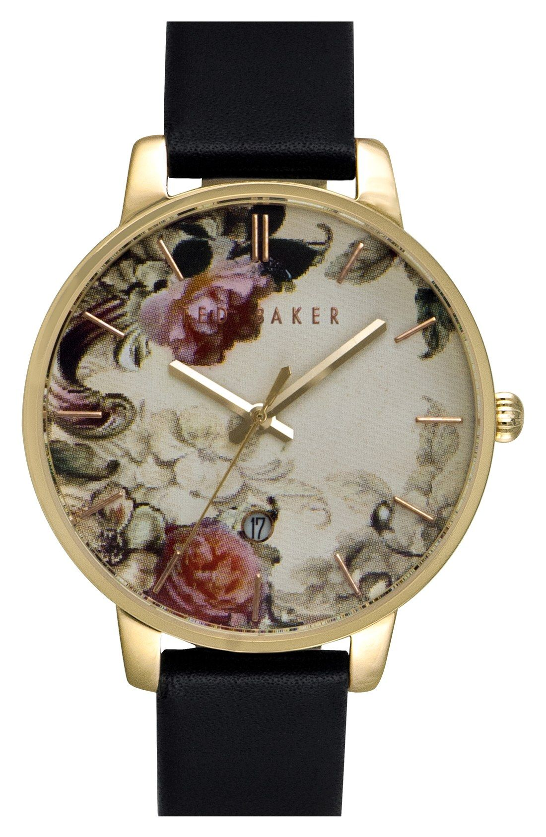 f22a27f67e08 Loving the dark tones in this floral watch from Ted Baker!