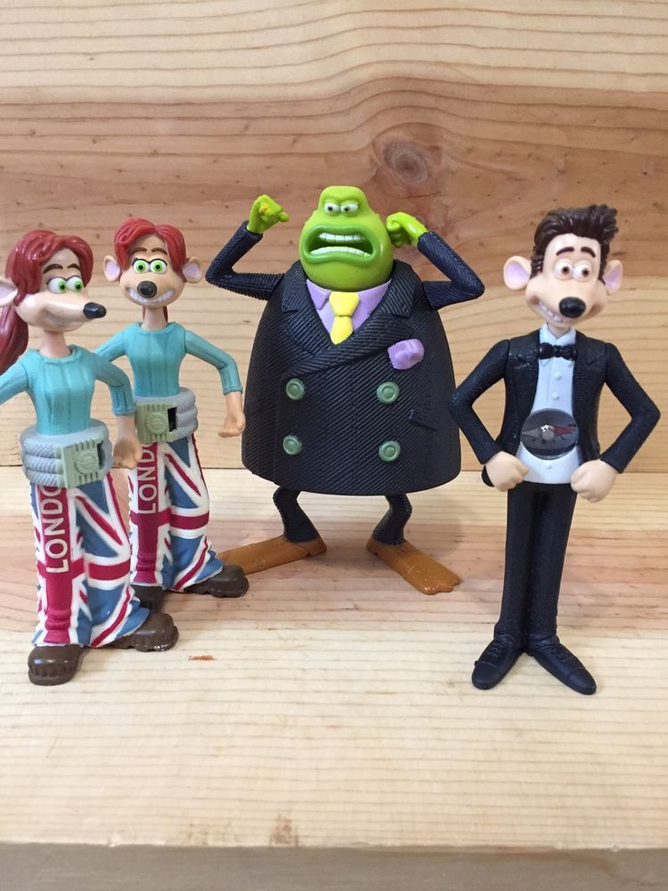 2006 flushed away mcdonald s toy set lot of 4 roddy rita sid