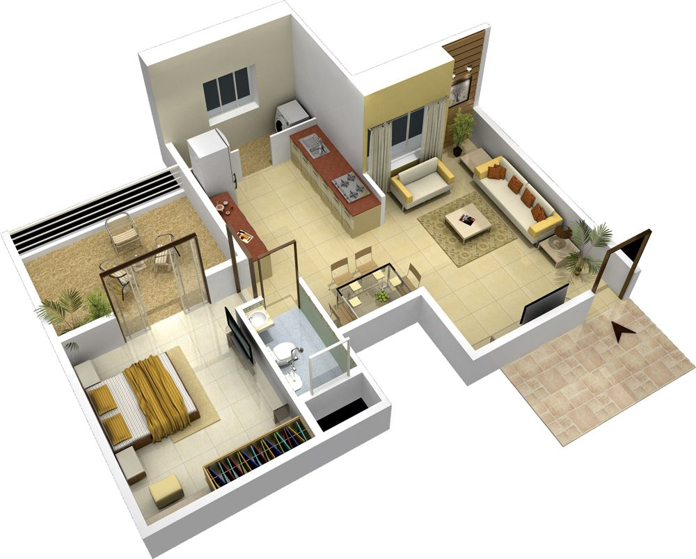 100 1bhk floor plan namrata group in pune talegaon for 1 bhk flat interior decoration image