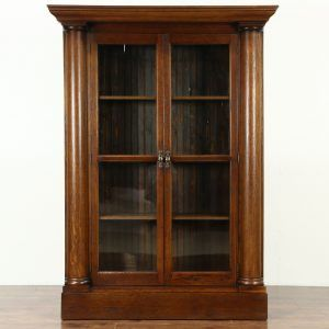 Antique Library Cabinet With Gl Doors Http