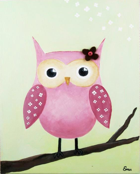 Owl picture to hang on wall or could use for party invitation