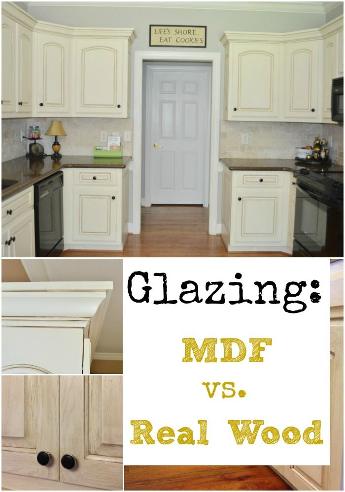Glazing MDF Versus Real Wood   At Home With The Barkers    Creamy Cabinets  With Different White Trim