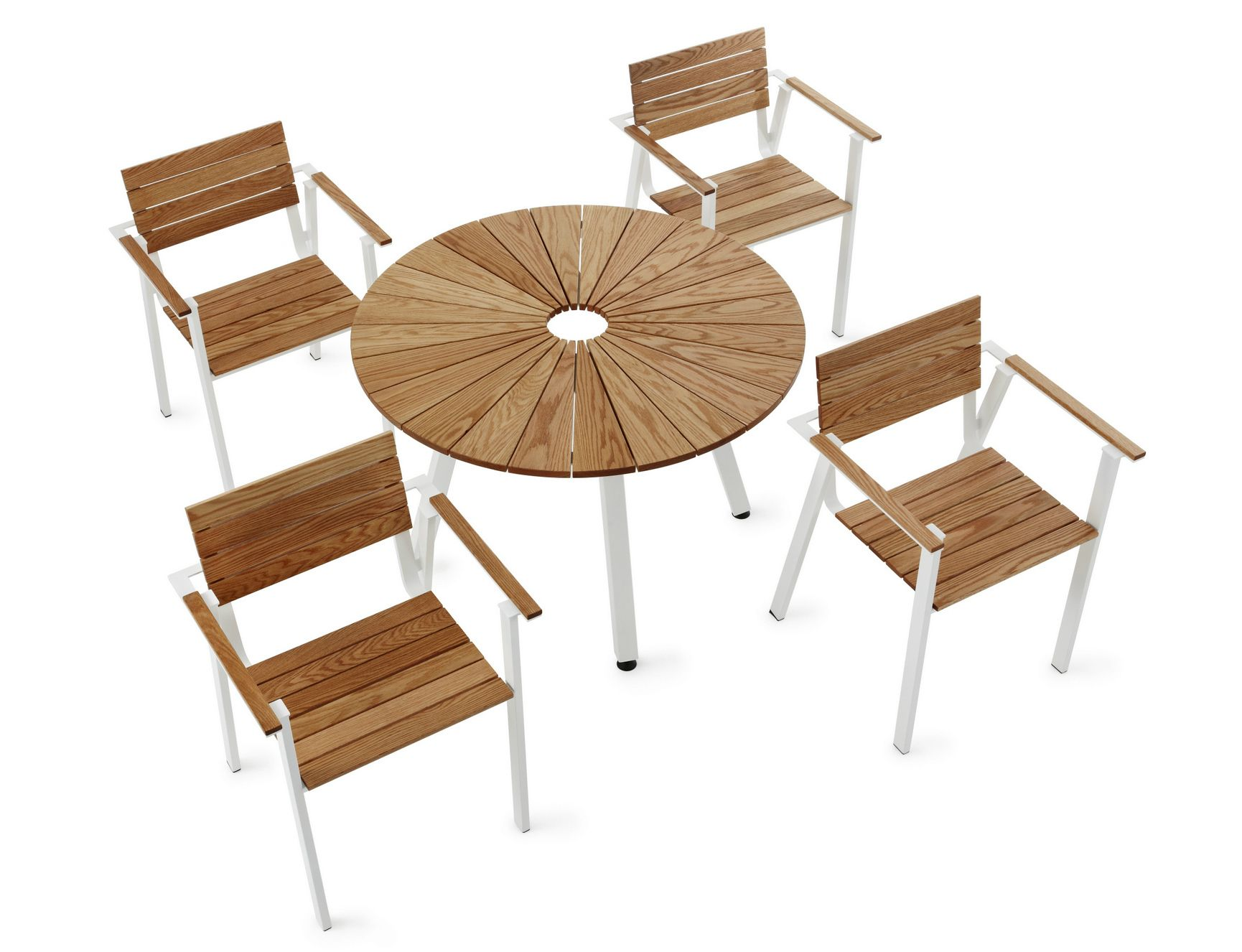 Table de jardin ronde avec trou central Sunset by Nola | Le blog ...