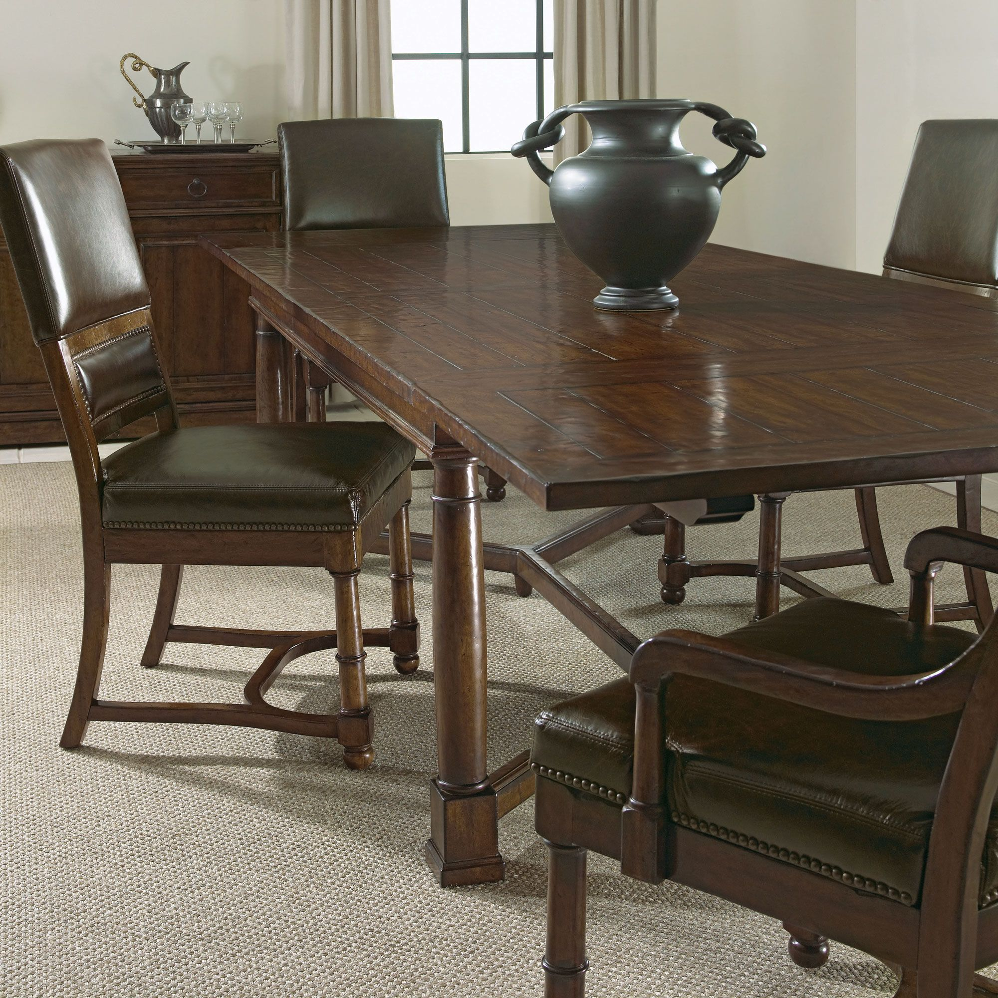 Bernhardt Vintage Patina Dining Room Setting Dining Table In