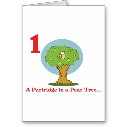 12 days partridge in a pear tree christmas card pinterest pear 12 days of christmas partridge in a pear tree greeting card m4hsunfo