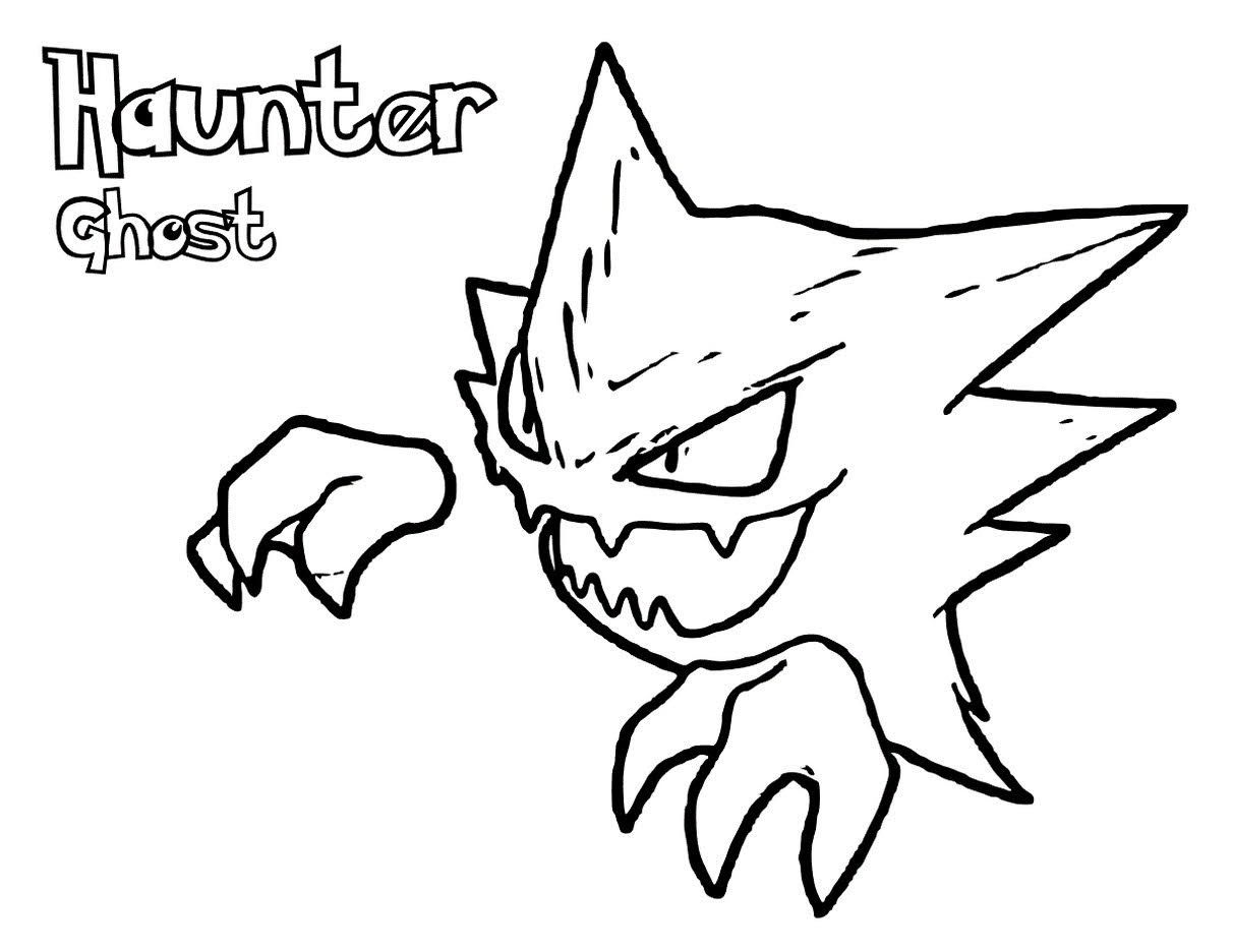 Printable Haunter Pokemon Coloring Pages Pokemon Coloring Pokemon Coloring Pages Cartoon Coloring Pages