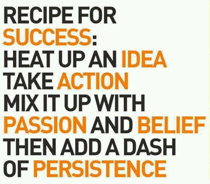 Recipe for #success .....