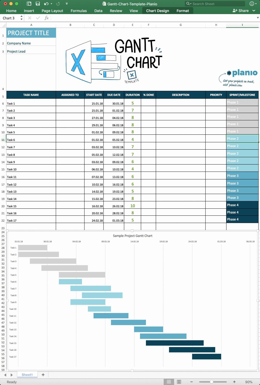 Gantt Chart Project Template Gantt Chart Templates Gantt Chart Excel Templates Project Management