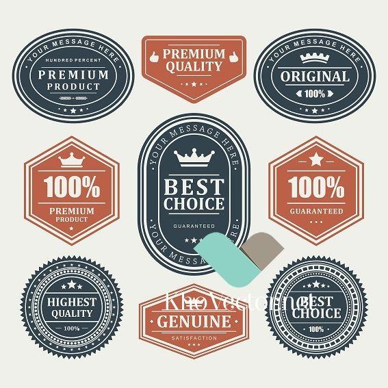Set of Vintage labels design elements Vector (With images ...