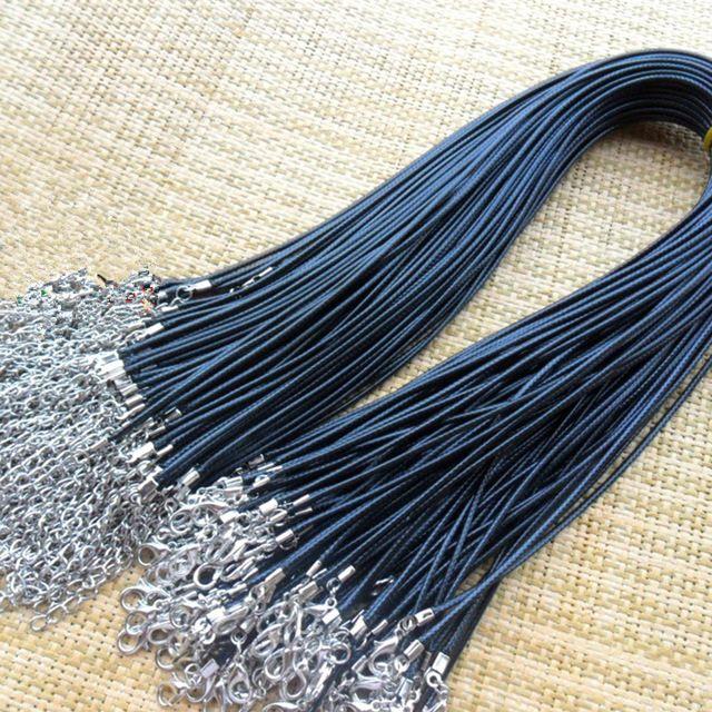 """Wholesale 100 pcs Black Rubber Necklace Cords 18/"""" x 2mm Thick"""