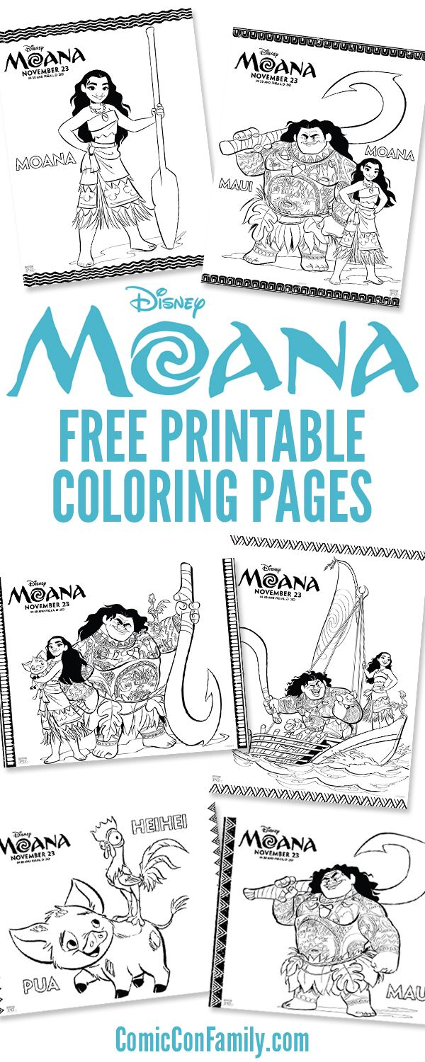Free Printables: Disney Moana Coloring Pages | ComicConFamily ...