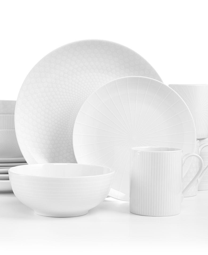 ZEN WHITE 16-PIECE DINNERWARE SET - Dinnerware - Dining | Stokes Inc ...