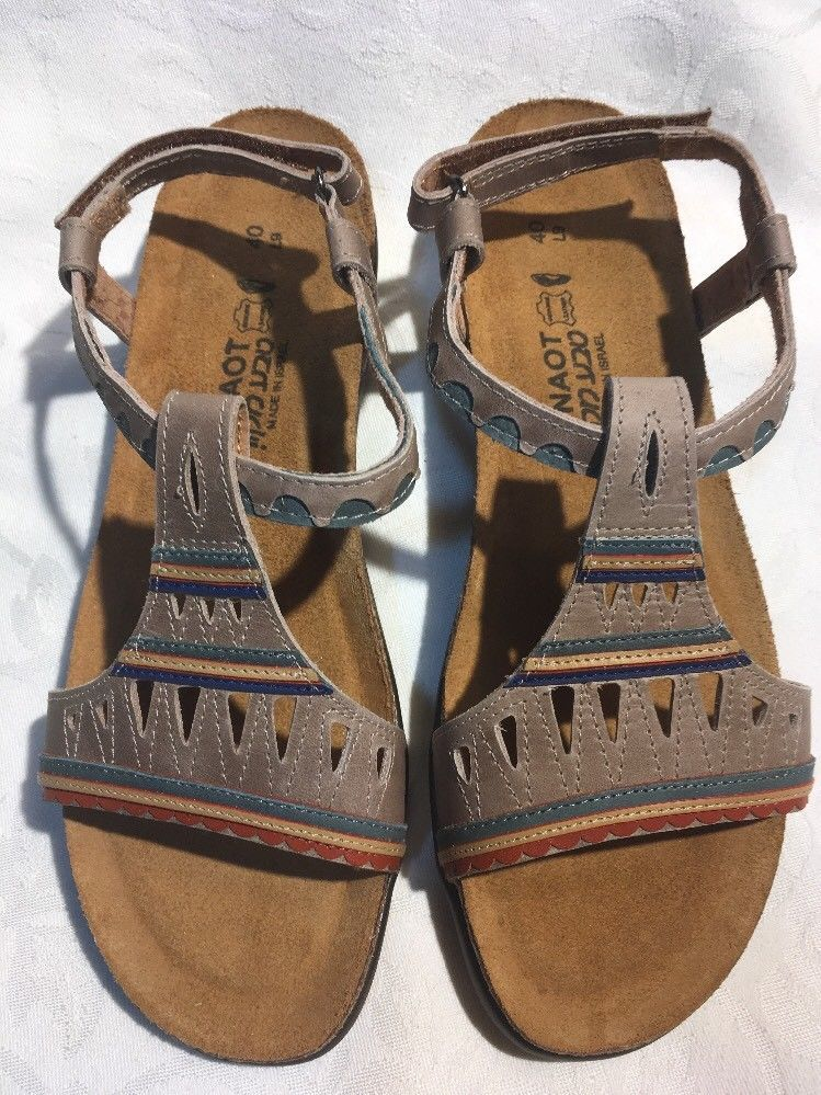 NAOT Odelia 07409 Womens NIB Multicolor Leather Sandals