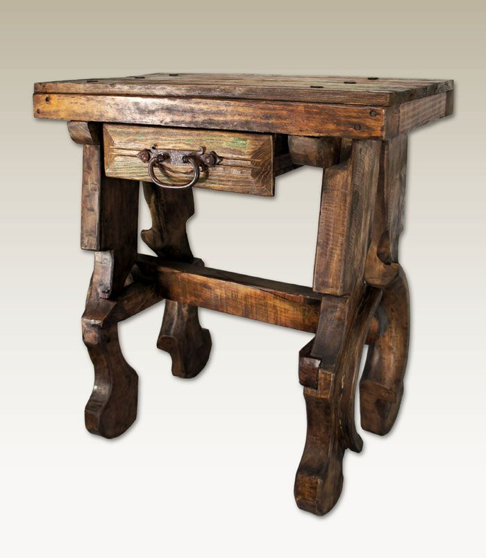 Old Door Entry Table Western Tail And End Tables Authentic Reclaimed