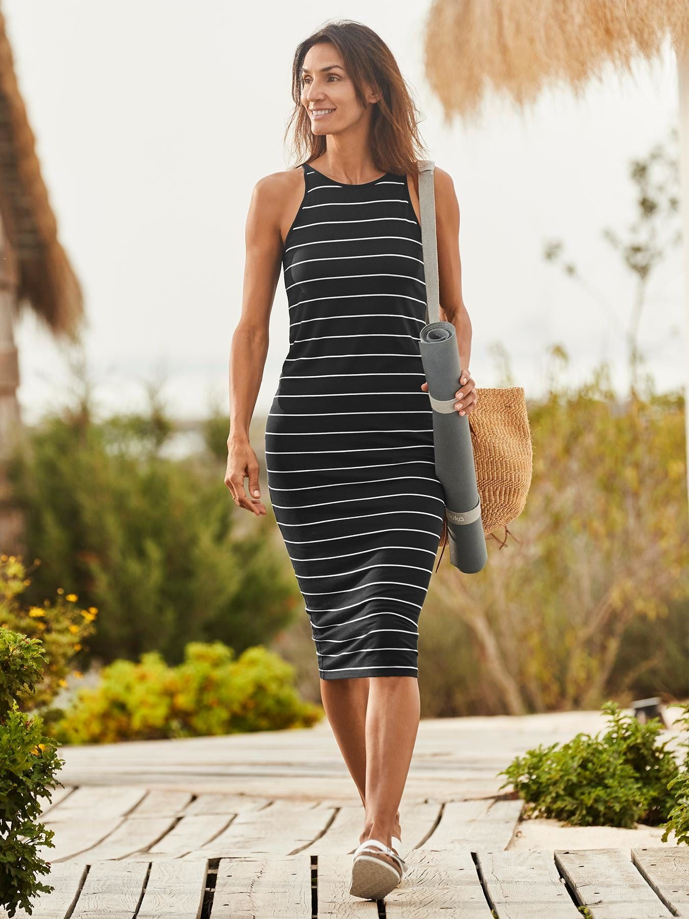 7329460cf09a Sunkissed Midi Dress | Athleta | janet's style | Dresses, Striped ...