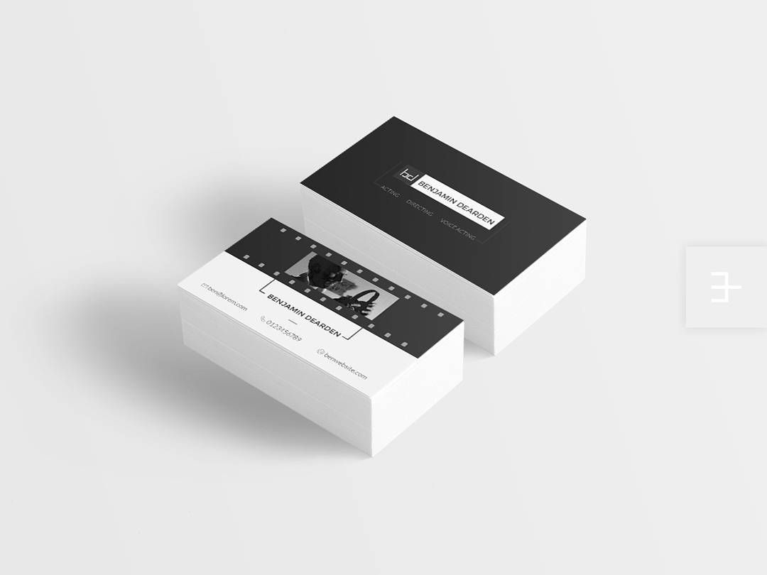 1 &...Action! Logo and business card crafted for an actor in the ...