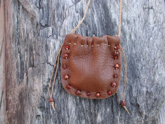 Leather Pouch Bag  Native American   Spirit by Shirlbcreationstoo, $24.00