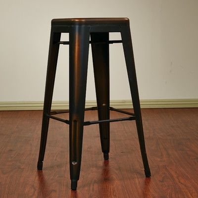 Office Star Bristow 30 Bar Stool Reviews Wayfair Backless Bar Stools Metal Bar Stools Black Bar Stools
